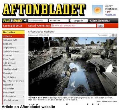 Шведская газета Aftonbladet