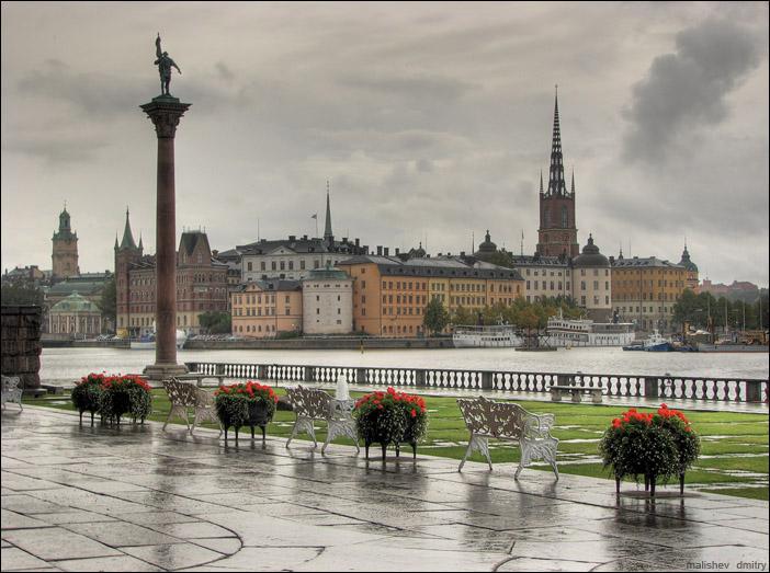Пасмурная погода в Стокгольме фото