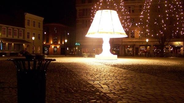 Лампа в городе Мальме, фото