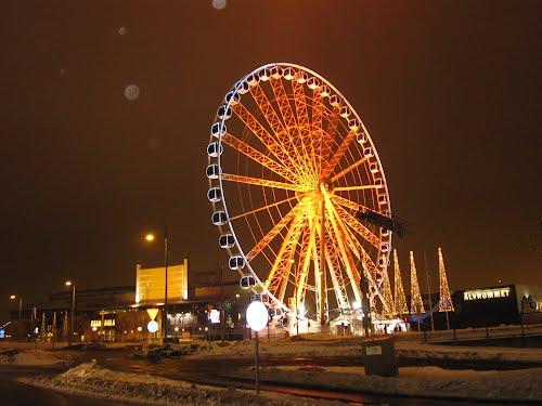 Колесо обозрения зимой в Гетеборге