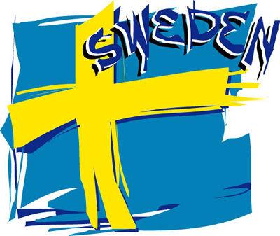 Художественный флаг Швеции фото