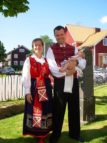Народный костюм Швеции