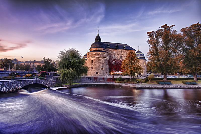 Замок в шведском городе Örebro