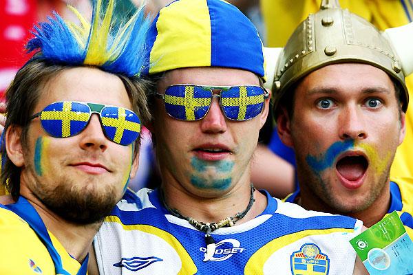 Шведские фанаты