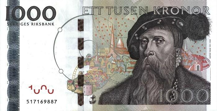 1000 Шведских крон (SEK)