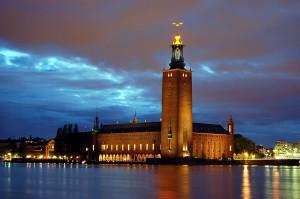 Фото вечернего Стокгольма, Швеция