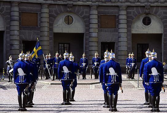 Почетный караул в Швеции, Стокгольм фото