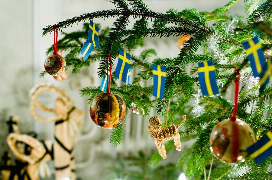 Новогодняя елка в Швеции