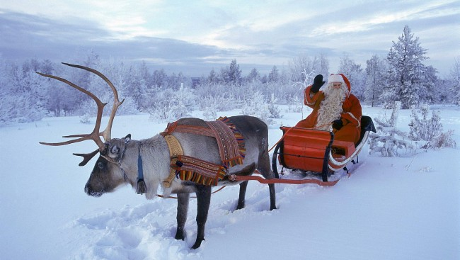Дед мороз и его олень
