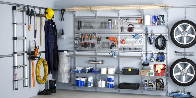 Шведские гардеробные в гараж
