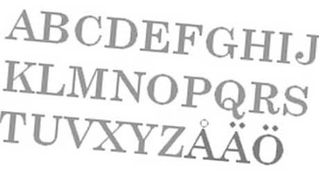 Шведский алфавит