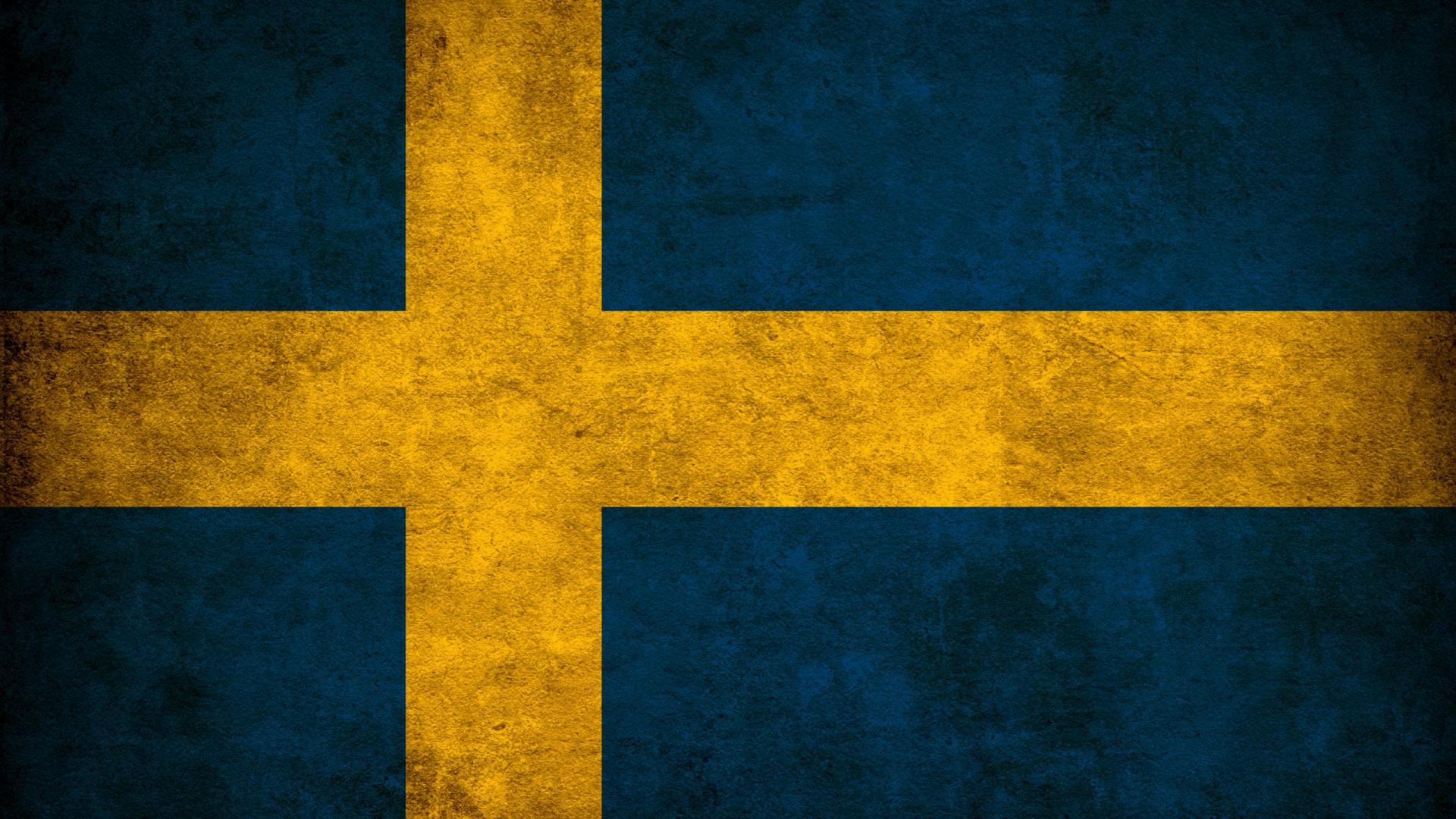 Гранжевый шведский флаг