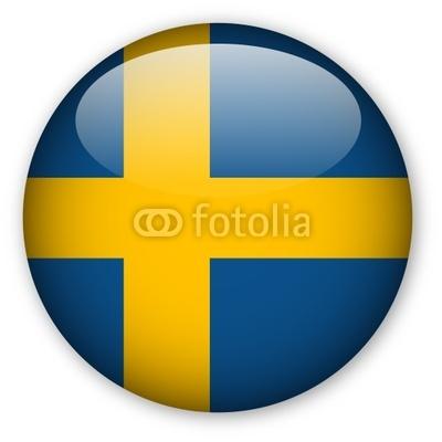 Глянцевый шведский флаг клипарт