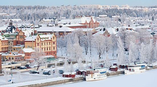 Город Умео в Швеции