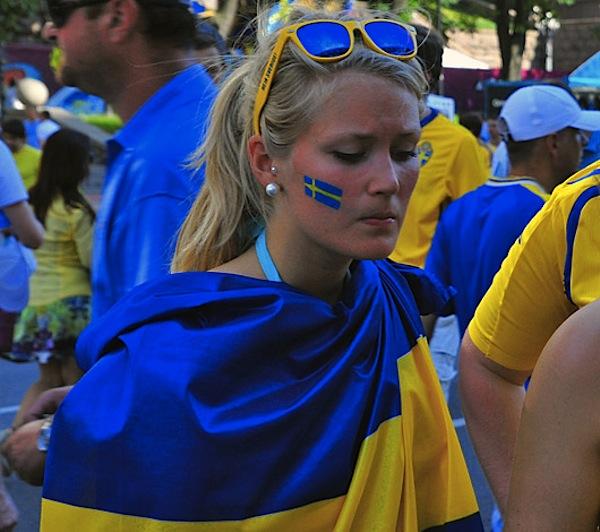 Шведская болельщица