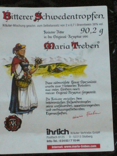 Шведский горький бальзам Марии Требен