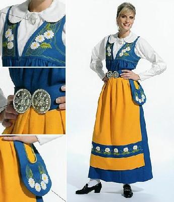 Шведский женский национальный костюм